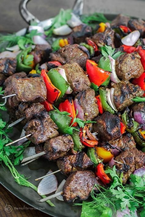 Best beef shish kabob ever! This tutorial will teach you everything you need to know for the perfect, flavor-packed, Mediterranean style beef kabobs!