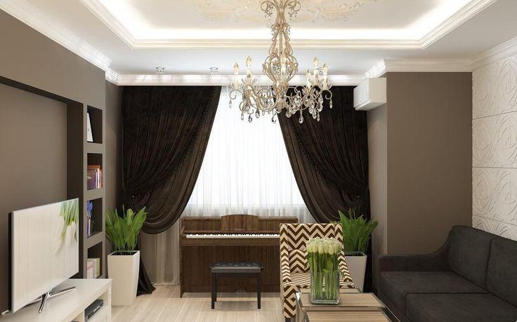 А вот и гостиная в коричневом цвете как по мне он никогда не надоест. #дизайнинтерьера #дизайнпроект #интерьер #дом #3d #Россия #Крым #дизайндома #дизайнер #sochi #комната #interiordesign #interior #home #design #детская #гостиная #кухня #коричневый #шоколад #стильное