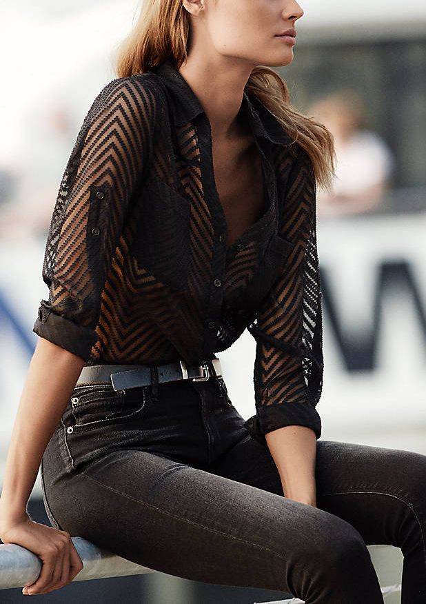 graphic pattern + sheer