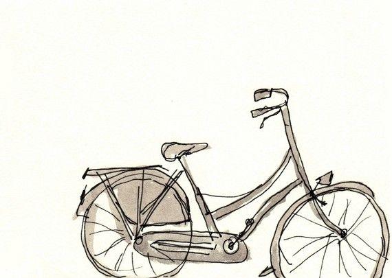 dutch bicycle: Illustrations Bike, Bike Illustrations, Dutch Bicycles, Bike Drawings, Bicycles Drawings, Bicycles Sets, Bicycles Sketch, Bike Art, Bicycles Bicycles