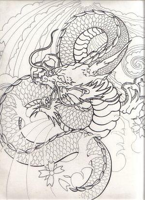 Japanese+dragon+drawing | japanese dragon flash