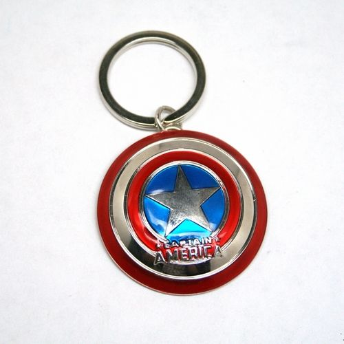 Captain America's Shield makes a great keychain.  Look at the great detailing on this key chain.  The back side of the keychain even has the straps that Captain America would use to hold the shield.  $5.99