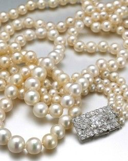 A mysterious pearl necklace that may have once belonged to Catherine the Great, Empress of Russia, will be auctioned off by Bonhams in New York in December. Automotive billionaire Horace Elgin Dodge purchased the necklace from Cartier in Paris in 1920 for his wife Anna Thomson Dodge at the astonishing price of $825,000 - about $8 million in today's dollars.