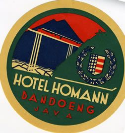 Hotel Homann - Bandoeng (Luggage label) by Artist Unknown