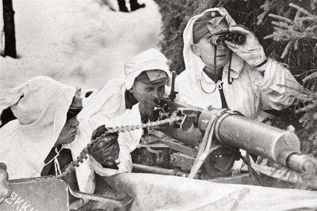 Zimní válka. Úporná finská obrana odkryla pravou tvář Stalinova režimu. Finští vojáci během bojů se sovětskou armádou