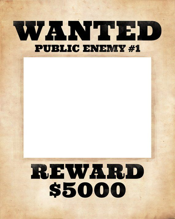 Photo Booth Frame Prop Printable Wanted Poster Wanted Sign Etsy Photo Booth Frame Prop Frame Props Photo Booth Frame