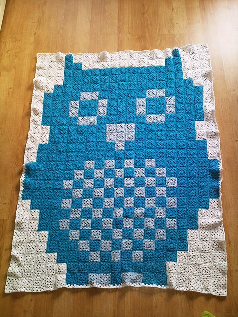 I could crochet 500 little squares... And then I could have an owl blanket... Ravelry: Owl Crochet Chart pattern by Agnes Barton