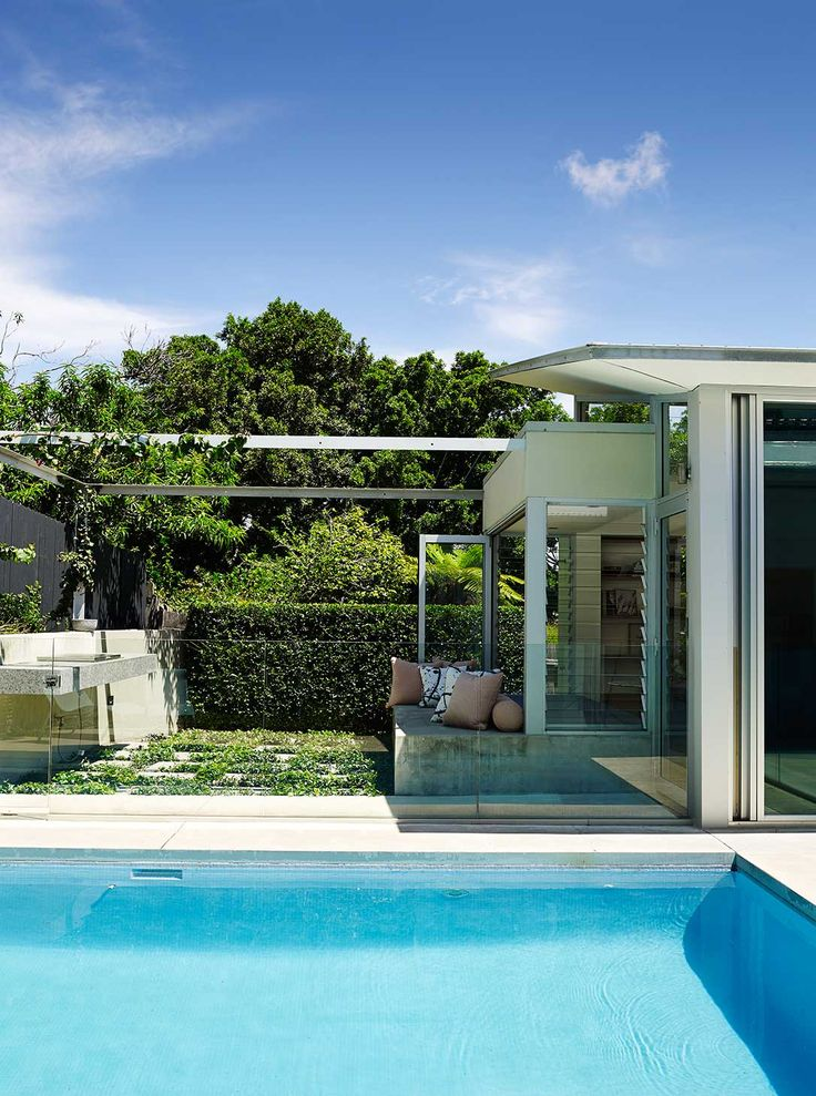 Great pool tiles- The Pavilion House by Arent & Pyke