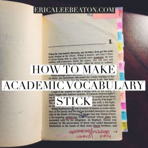 How to Make Academic Vocabulary Stick