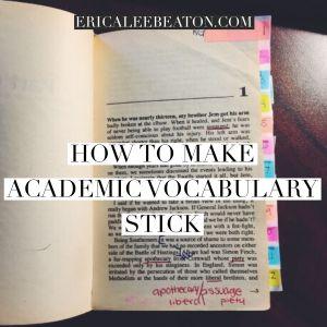 How to Make Academic Vocabulary Stick