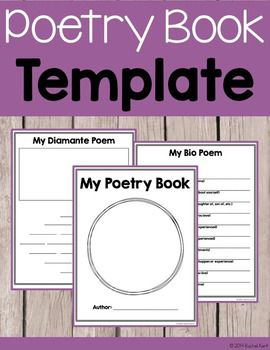 619 best images about 2nd grade on pinterest for Poetry booklet template