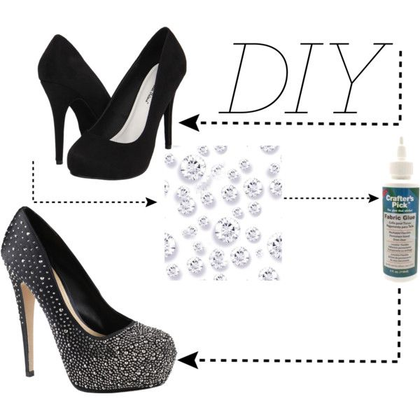 """DIY Rhinestone High Heels"" by hollyisme on Polyvore ..."