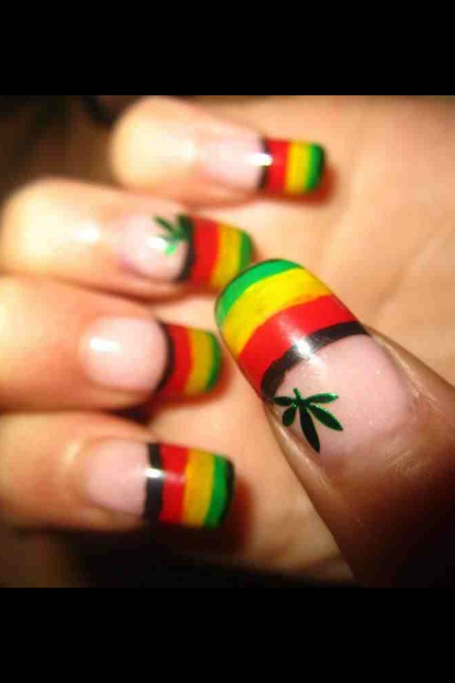 61 best rasta nails images on pinterest nail art bath and deco rasta nails prinsesfo Choice Image