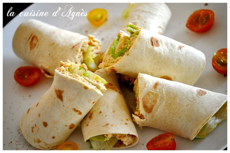 wraps de poulet au curry