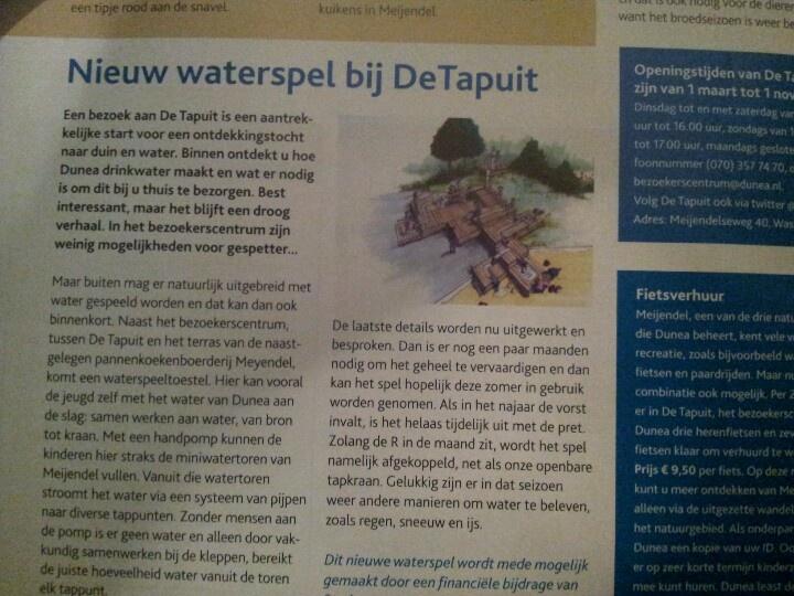 Zuid holland; waterspel De Tapuit