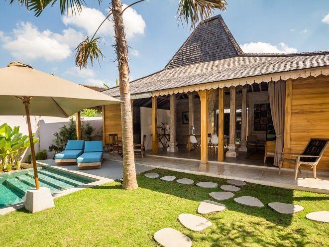 Villa Du Bah | 3 bedrooms | Kerobokan, Bali #openair #livingroom #swimmingpool #villa #exterior #bali #holiday