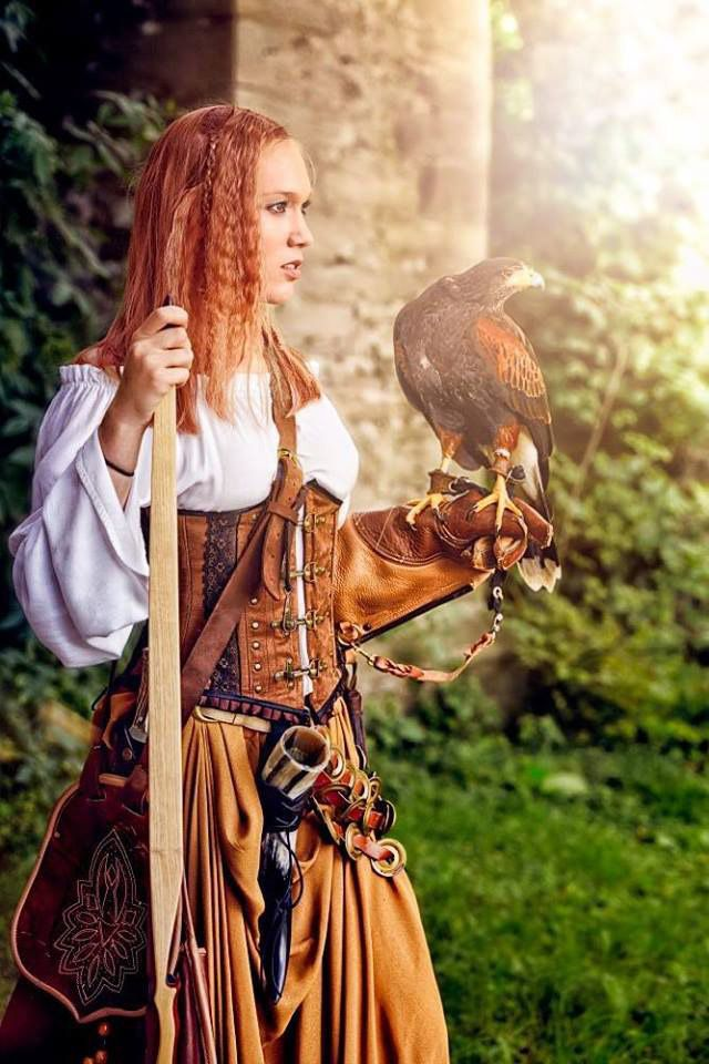 "She stood still in the silent forest. She could not hear a single bird singing in the trees. Suddenly she heard a twig snap, and she whirled around. ""My lady?"" ""Walter? What are you doing out here?"" ""I would ask the same, but it seems obvious. You are falcon hunting, and I am looking for you."""