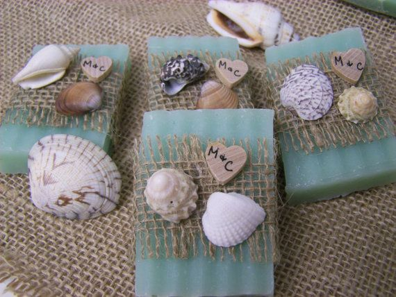 Beach wedding  beach favors soaps  Shea butter by CountryChicSoaps, $60.00