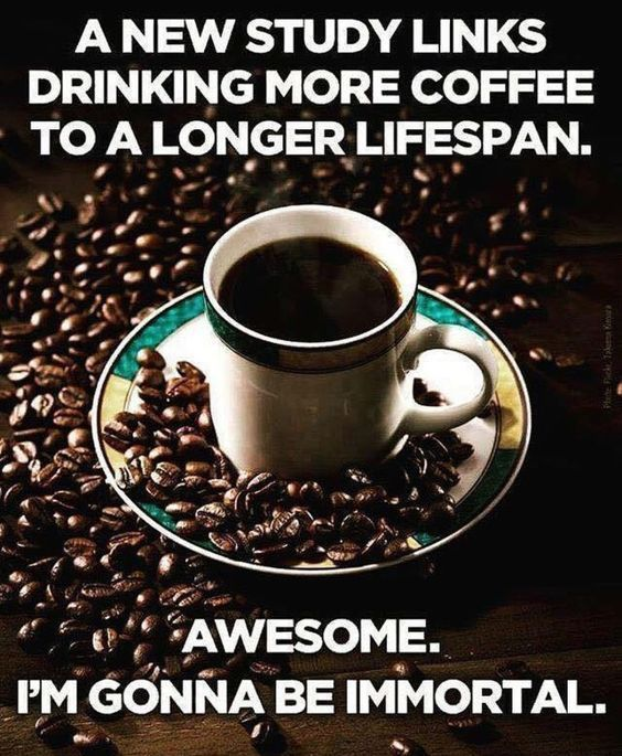 Image result for coffee makes you live longer