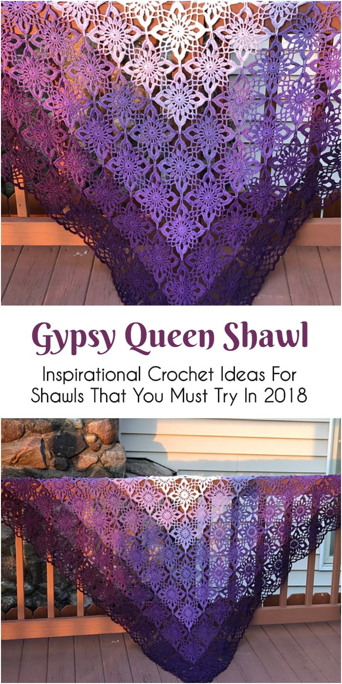 Inspirational Crochet Ideas For Shawls That You Must Try In 2018