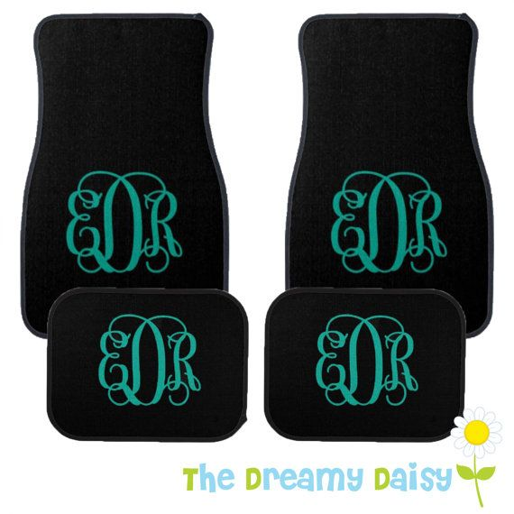 Personalized Car Floor Mats Monogrammed Car by TheDreamyDaisy