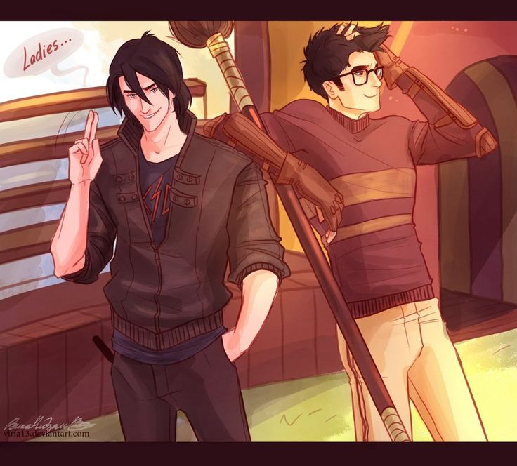 Sirius and James - totally how I imagined them