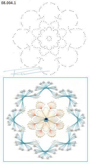 08.004.1 borduren op papier 08.004.1 embroidery on paper 08.004.1 broderie sur papier: