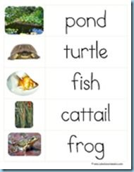 Pond Theme Printables