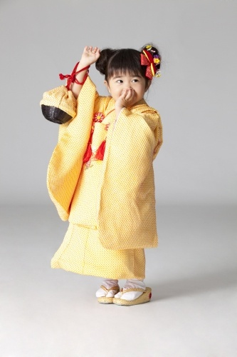 "七五三Shichi-Go-San (七五三, lit. ""Seven-Five-Three"") is a traditional rite of passage and festival day in Japan for the age of 3, 5 and 7. Boys get their time alone in the spotlight at 5, and girls at 7, held annually on November 15 to celebrate the growth and well-being of young children."