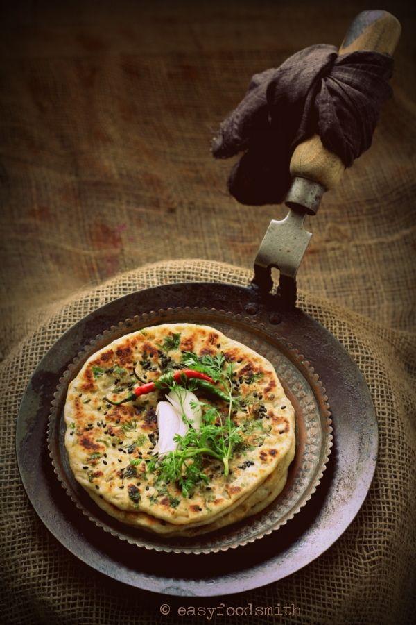 KULCHE - Skillet cooked Onion Stuffed Flatbread #Skillet Flatbread #Easy Flatbread #Punjabi Food #Indian Flatbread