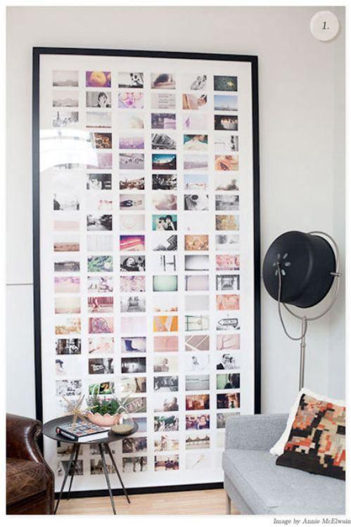framed photos. love this!