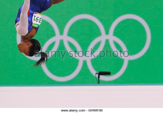 Simone Biles of the USA during the Women's Individual All-Around Final Floor Exercise at the 2016 Olympic Games. Rio de Janeiro, Brazil. (Stock Photo)  © Aflo Co. Ltd. / Alamy Stock Photo  http://www.alamy.com  http://www.alamy.com/stock-photo-rio-de-janeiro-brazil-11th-aug-2016-simone-biles-usa-artistic-gymnastics-114264912.html