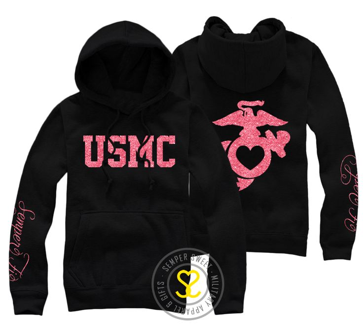 I have one of my favorite hoodies from here! Semper Sweet - USMC Semper Fi Hooded Sweatshirt, $38.99 (http://sempersweet.com/usmc-semper-fi-hooded-sweatshirt/)