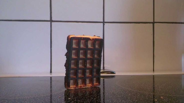 Burnt waffle falling over. This video is so inspirational you have to watch it.