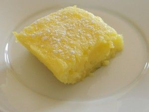 I'm taking these 2-ingredient lemon bars to a cookout today. I added a crust underneath, so it should add a nice crunch...I'll let you all know what the audience thinks. :)