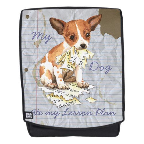 My Chihuahua Ate my Lesson Plan Backpack