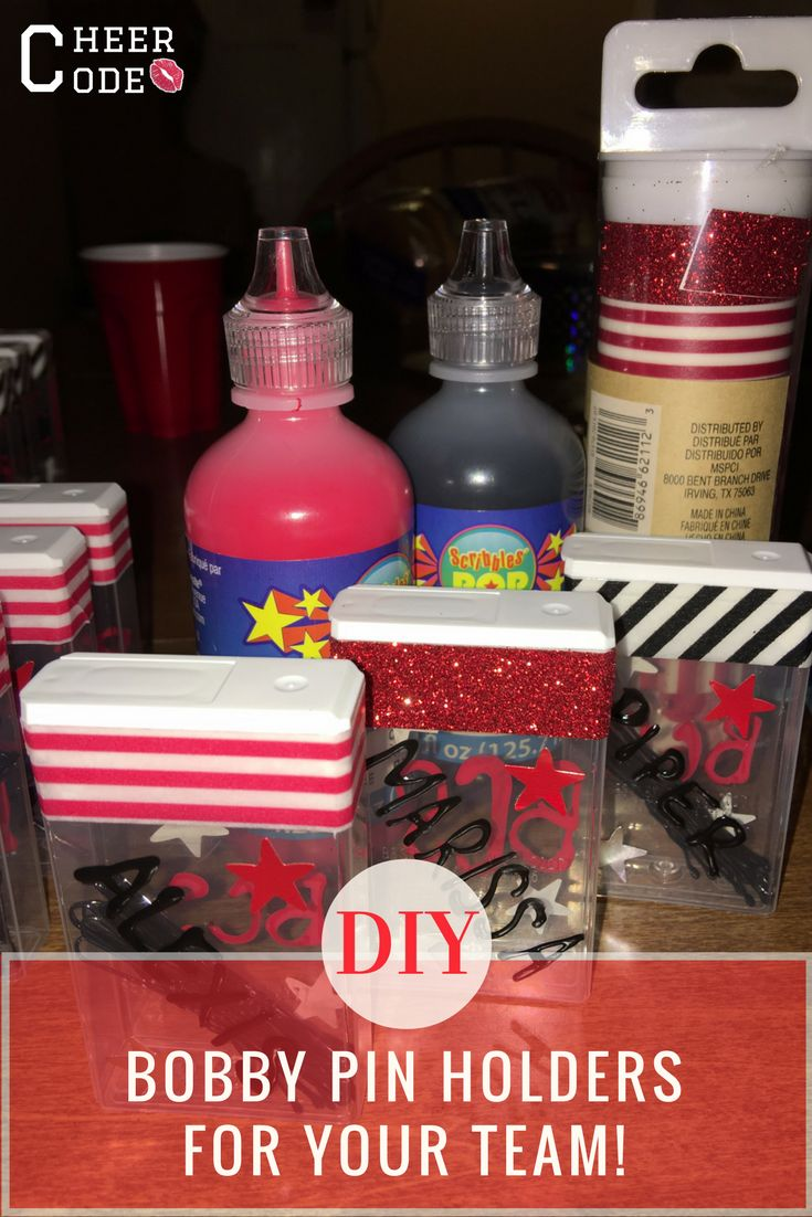 Cheer Code | Glitter Bows & Nike Pros. Team Gift Ideas: DIY Bobby Pin Holders