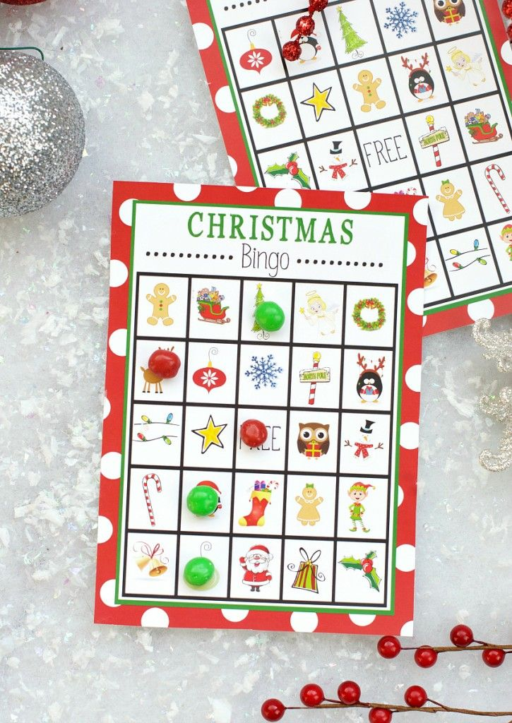 Christmas Bingo Game by Amber Today I've got a free printable Christmas Bingo ready for you! This works great for a class party or any Christmas party you are throwing or just on a cold winter day to play at home with your kids. I like to take them with me to the class parties and play it with small groups. We also played it at a family holiday party ....