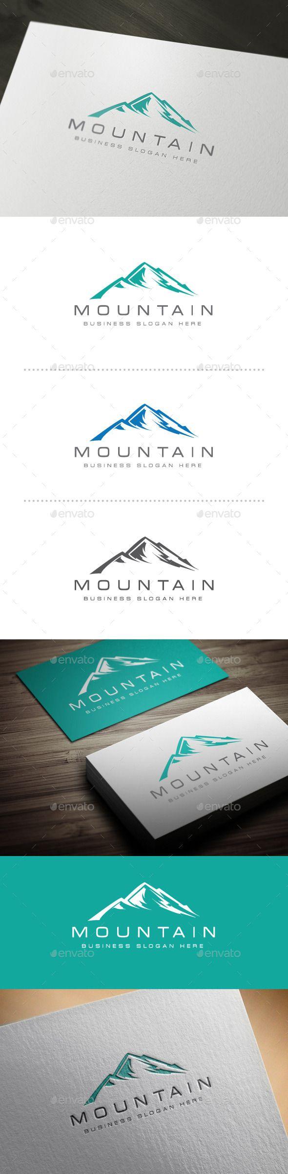 Mountain Logo — Vector EPS #mountain logo template #corporate • Available here → https://graphicriver.net/item/mountain-logo/10521578?ref=pxcr