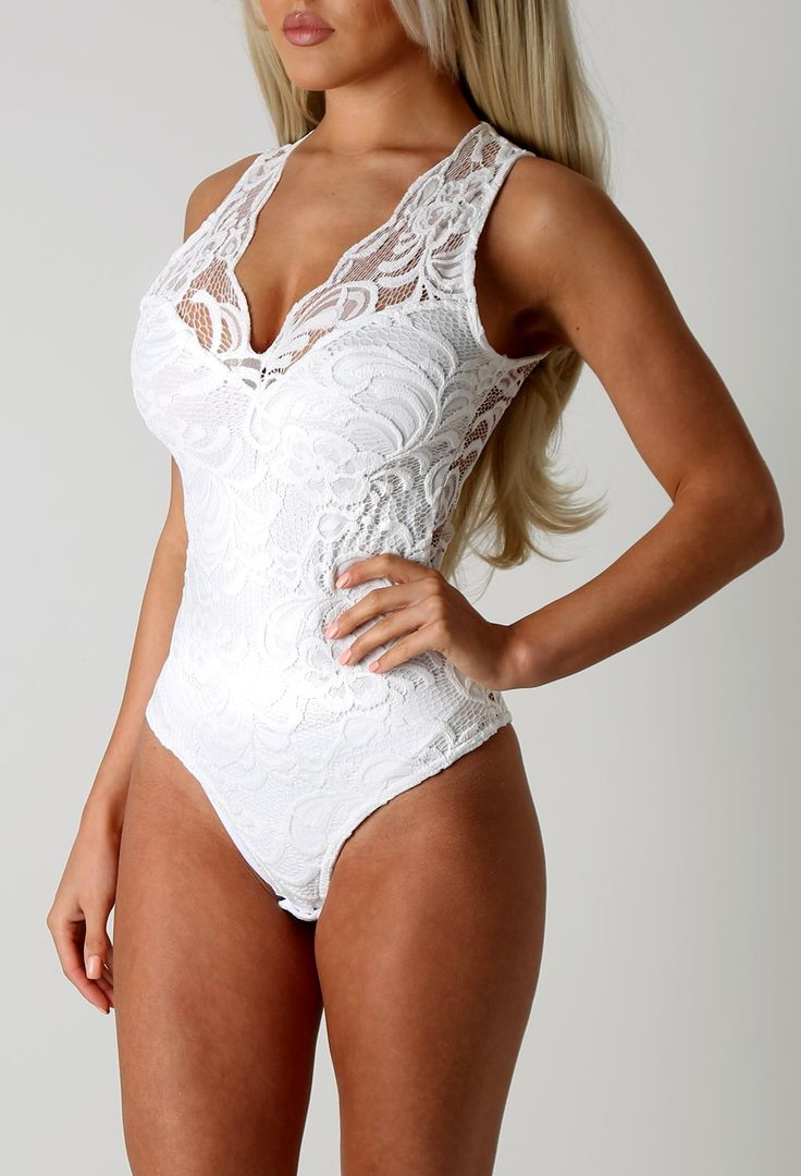 Flourish White Lace Bodysuit
