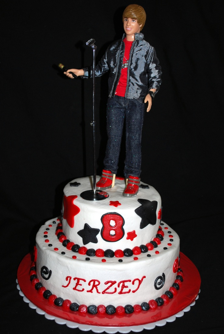 17 Best Images About Justin Bieber Cakes On Pinterest