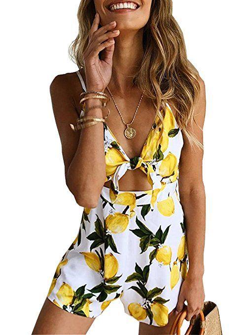 11f39c2df0 Famulily Women s Cute Summer Beach Printed Spaghetti Strap Short Jumpsuit  Romper   summer romper women   summer playsuits for women   Chic Fashion  for Women ...