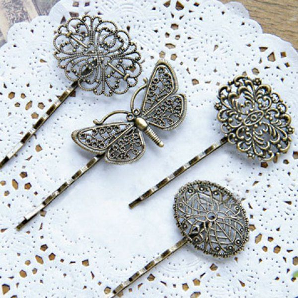 Sweet Retro Style Different Shape Women's Hairpin, RANDOM COLOR PATTERN in Hair Accessories   DressLily.com