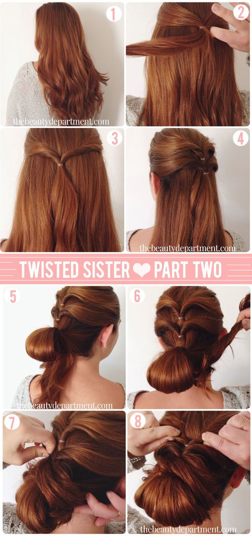Chignon with an extra twist.