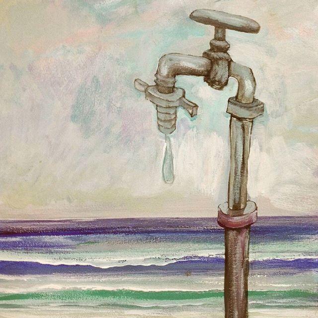 Apenas una.  Arturo Mranda #arturomiranda #acryliconcanvas #sequia #agua #water #artshow #artlovers #artcollective #artgallery #enviromental #oceans #lovetheocean #paiting #mediterraneosea #mediterranean #ibizaart #newartwork #artshows #contemporaryart  #ahorrar #nature #artcollector #nomore #nomas #canvaspainting #style #finearts #instaartist #follow #now
