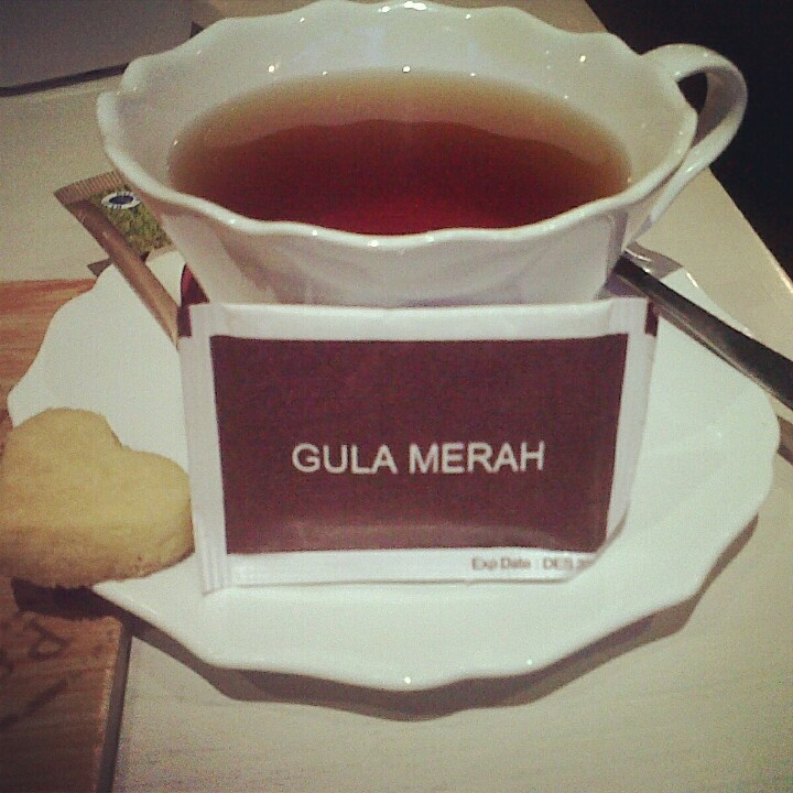 Black tea with brown sugar (in indonesia called 'gula merah') what a perfect afternoon :)