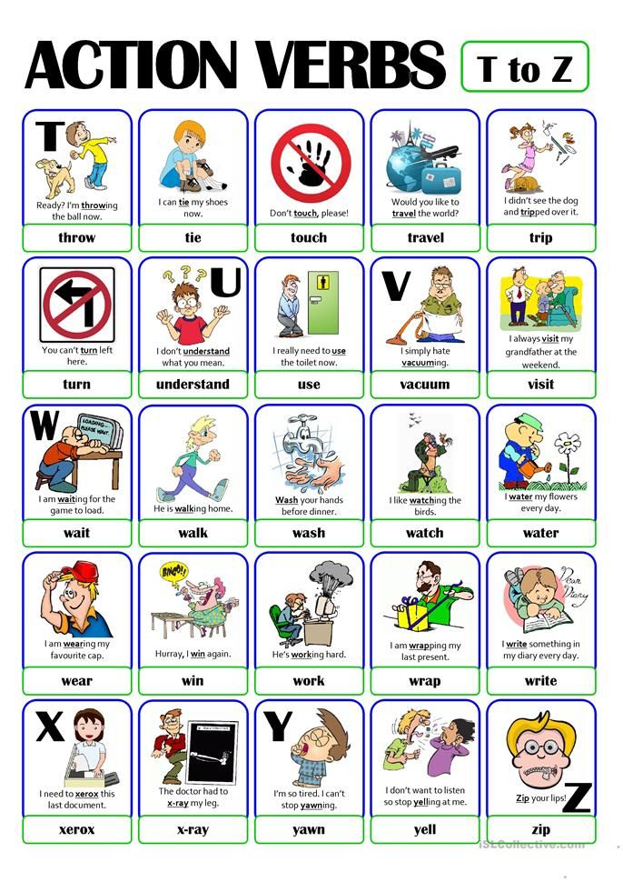 127 best ESL - Vocabulary - Action Verbs images on Pinterest Sew - action words list