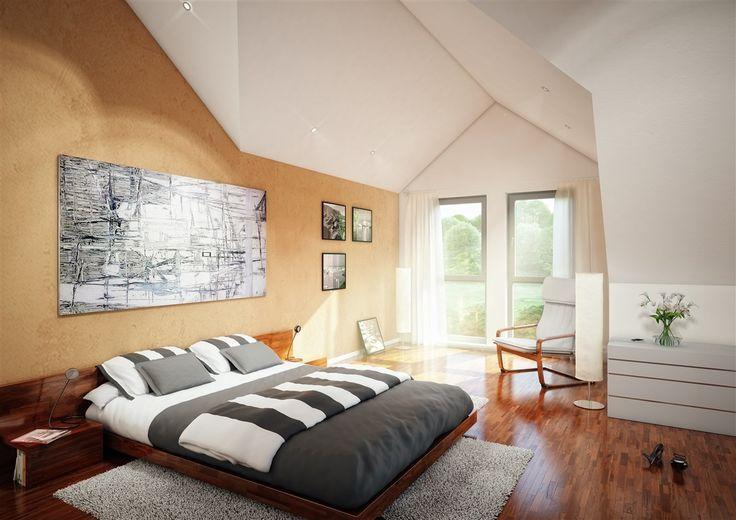 Großzügig und weit.     #Schlafzimmer #Fertighaus #BienZenker #Haus