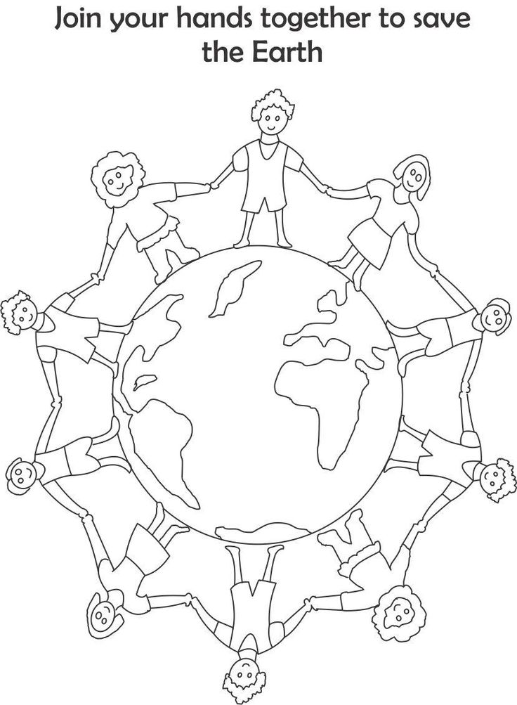 Earth day printable coloring page for kids 4