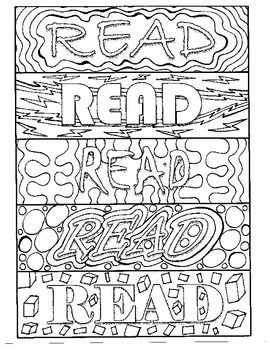"Bookmarks to color, all with the ""READ"" message. Each bookmark has a unique design, giving students 15 different choices. Great as a center, reward, or just for fun! Inspire reading with this fun activity!"